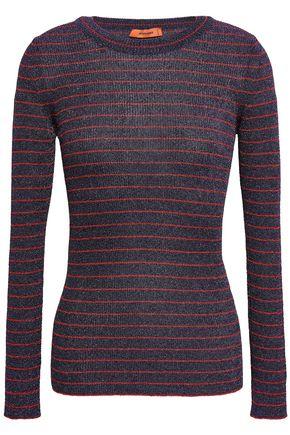 MISSONI Striped metallic crochet-knit top