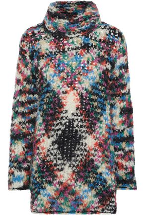 MISSONI Brushed bouclé-knit turtleneck sweater