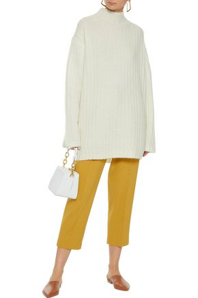 f6e90948567 BY MALENE BIRGER Paprika oversized brushed ribbed-knit sweater