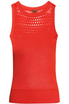 MISSONI Open knit-paneled cotton tank
