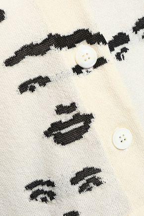 MISSONI Cropped jacquard-knit wool-blend cardigan