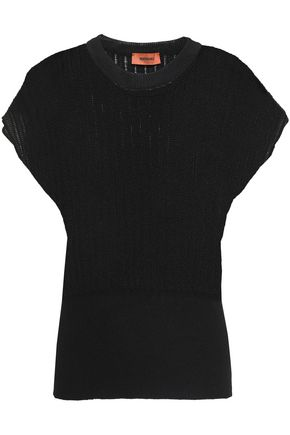 MISSONI Pointelle-knit wool-blend top