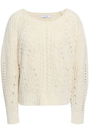 IRO Cyverly metallic cable-knit cotton-blend sweater