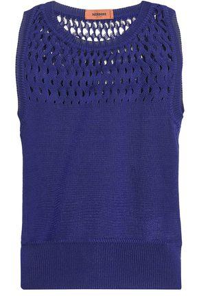 MISSONI Open knit-paneled cotton tank