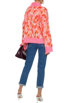 BY MALENE BIRGER Lalli brushed jacquard-knit turtleneck sweater