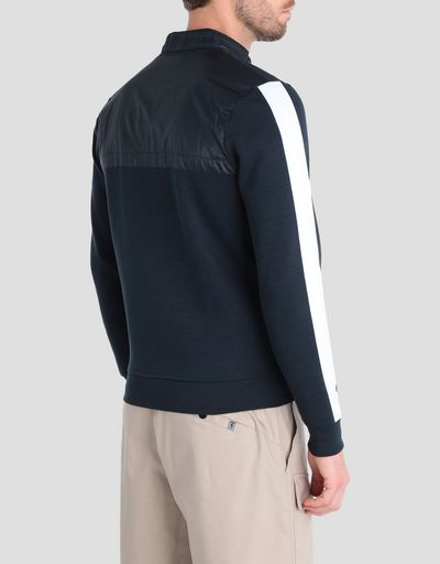 Men's sweater in Interlock with full zip