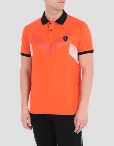 Men's polo shirt in cotton piqué