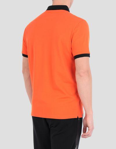Men's stretch cotton piquet polo