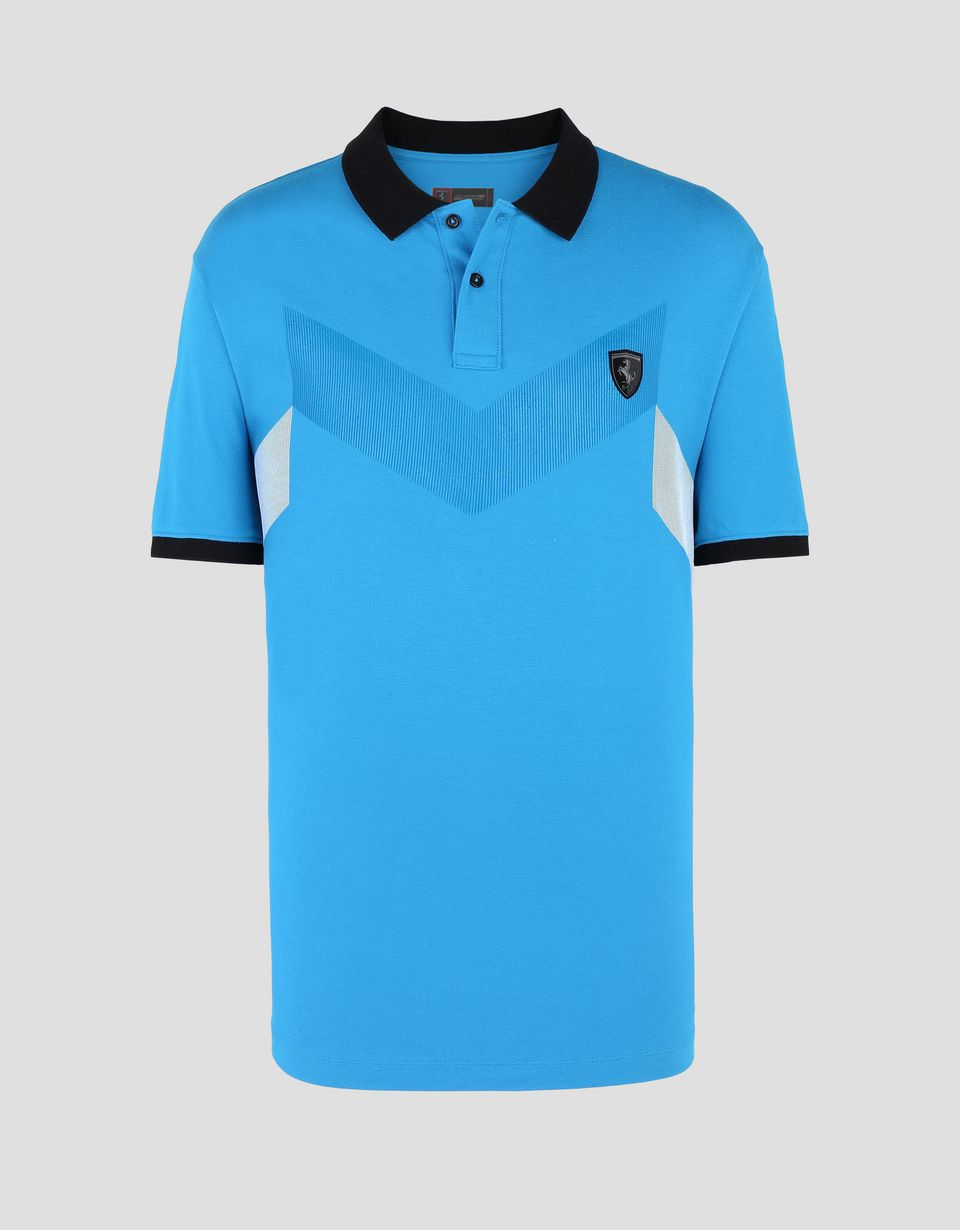 Scuderia Ferrari Online Store - Men's stretch cotton piquet polo -
