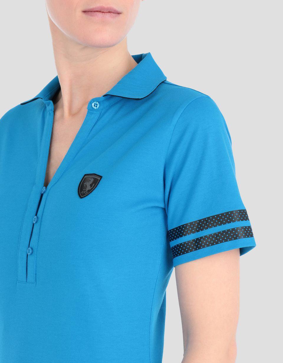 Scuderia Ferrari Online Store - Women's Scuderia Ferrari stretch piquet polo - Short Sleeve Polos