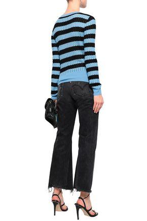 MISSONI Pointelle-knit wool-blend sweater