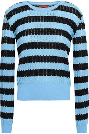 MISSONI Pointelle-knit wool-blend sweater
