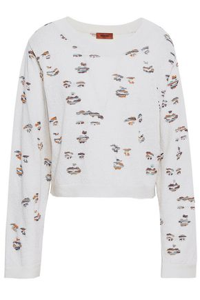 MISSONI Cropped jacquard-knit sweater