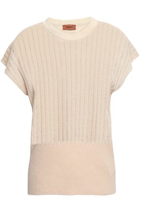 MISSONI Pointelle-knit wool-blend top