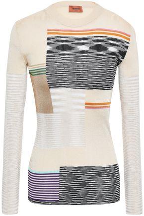 MISSONI Patchwork-effect crochet-knit top