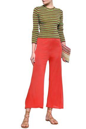 MISSONI Striped metallic ribbed-knit sweater