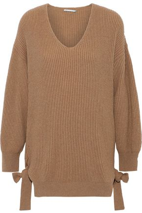 STELLA McCARTNEY Oversized ribbed cashmere and wool-blend sweater