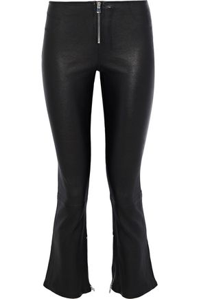 RTA Madison leather kick-flare pants