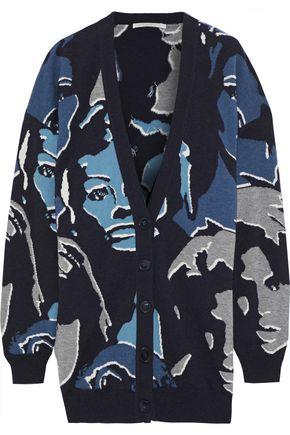 STELLA McCARTNEY Faces intarsia wool cardigan