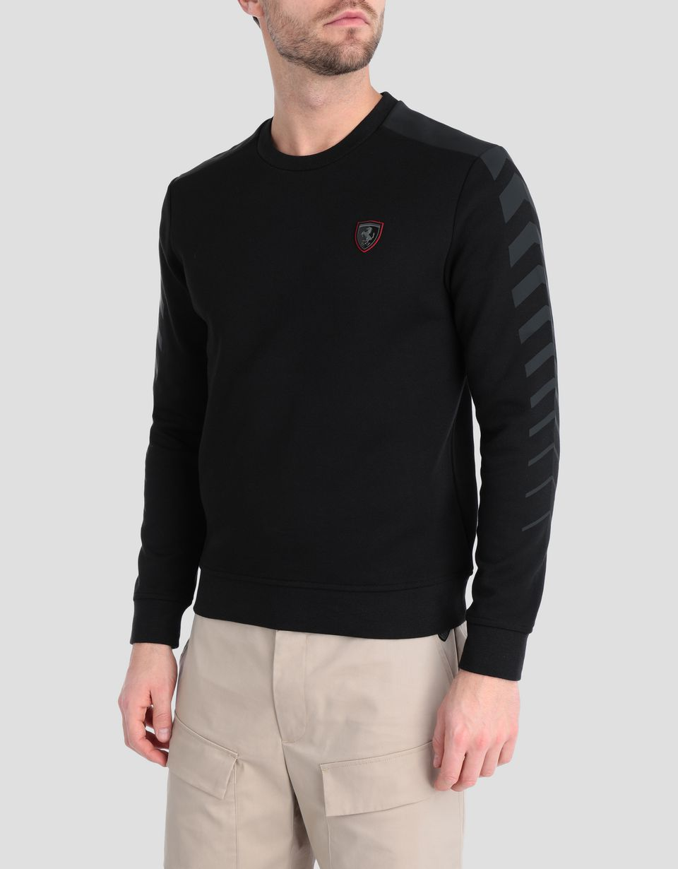 Scuderia Ferrari Online Store - Double knit men's shirt with arrow print - Crew Neck Jumpers