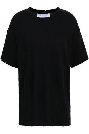 IRO Distressed cotton and silk-blend jersey T-shirt