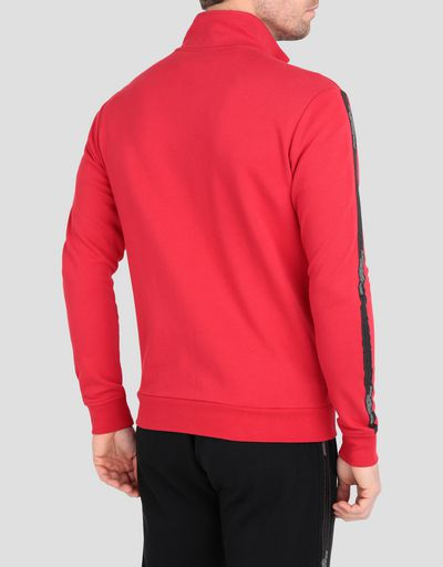 Men's sweater in French Terry with full zip