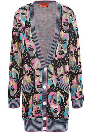 MISSONI Cotton-blend jacquard cardigan