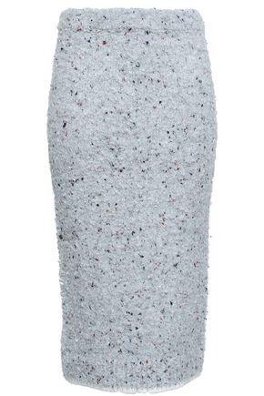 VICTORIA, VICTORIA BECKHAM Bouclé-knit pencil skirt