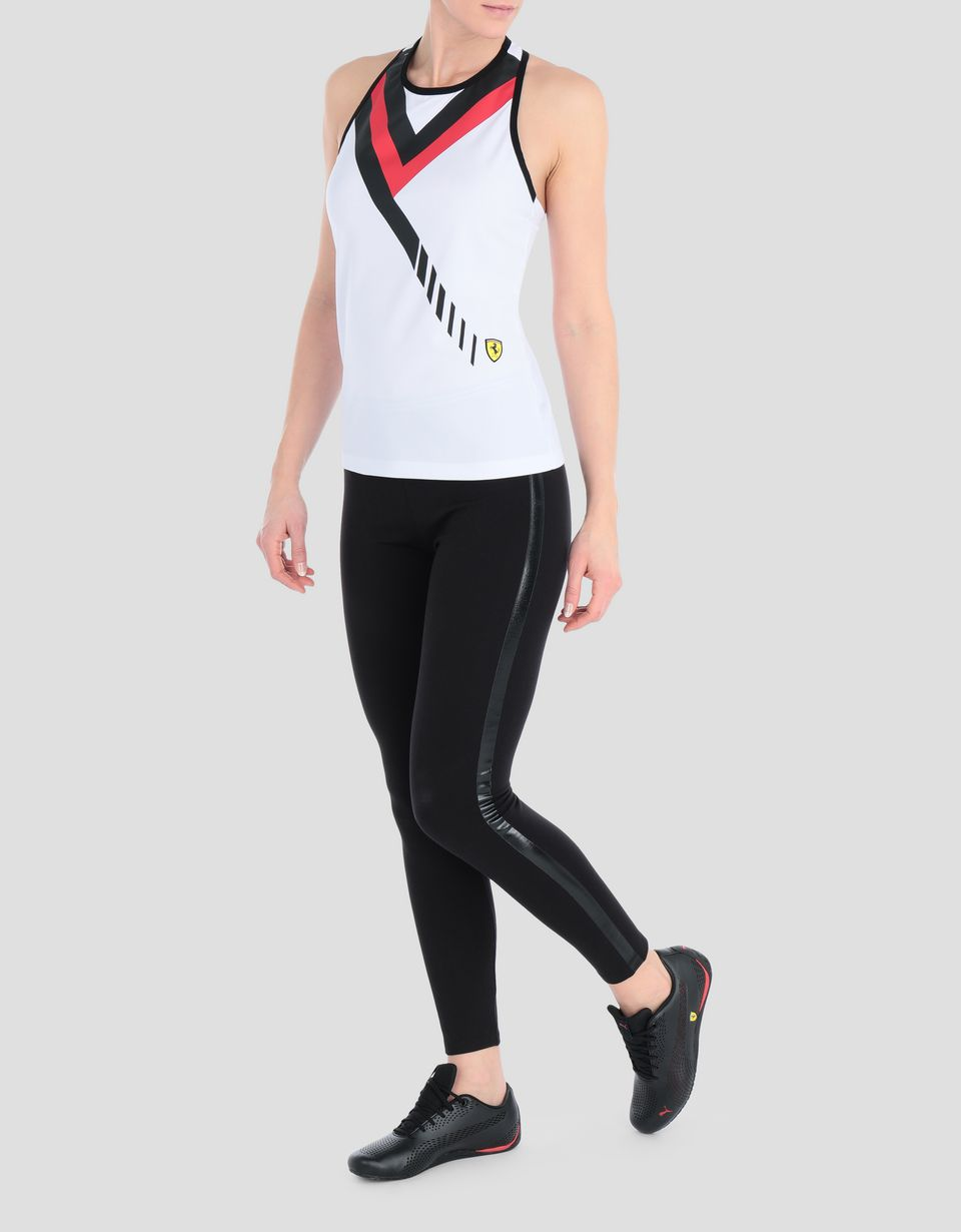 Scuderia Ferrari Online Store - Women's vest in technical piqué, with print -