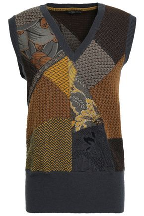 ETRO Patchwork wool-blend jacquard sweater