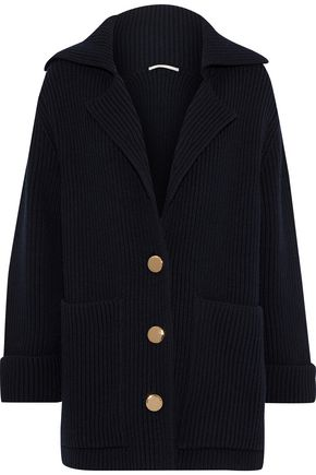 STELLA McCARTNEY Ribbed wool cardigan