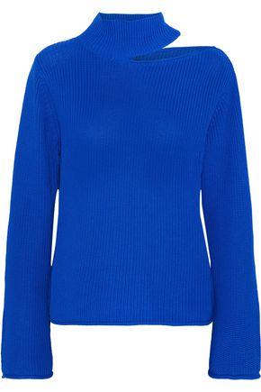 RTA Langley cutout ribbed cotton sweater