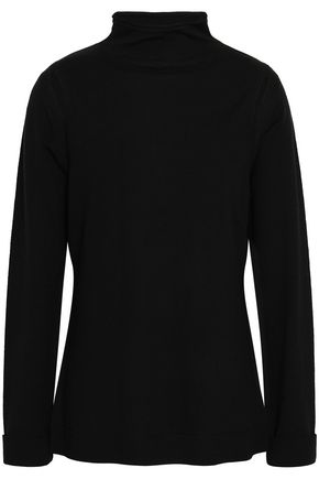 ELIE TAHARI Cutout merino wool turtleneck sweater