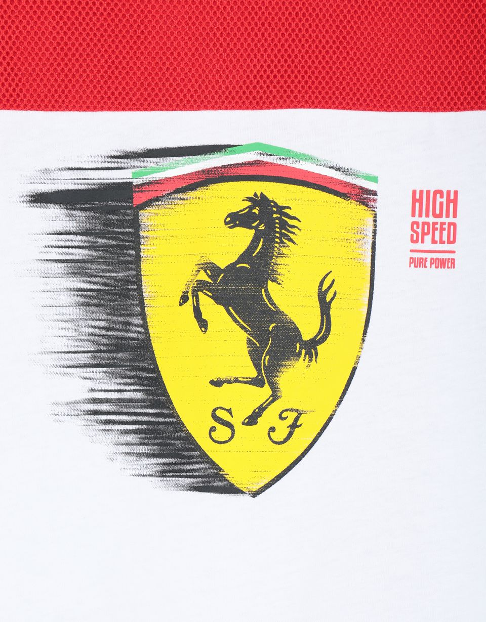 Scuderia Ferrari Online Store - Boys' T-shirt with dynamic printed Ferrari Shield -