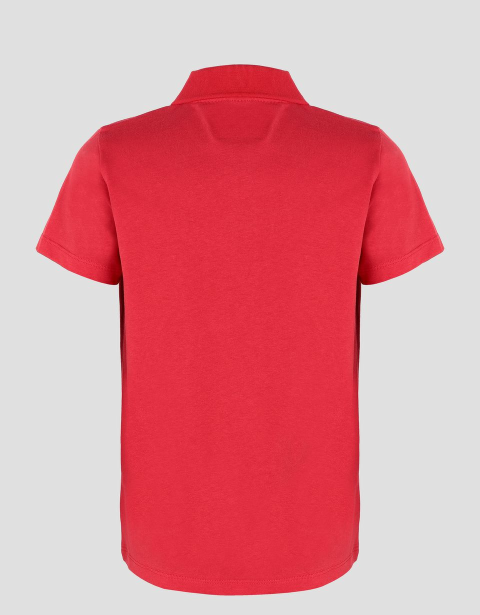 Scuderia Ferrari Online Store - Boy's cotton polo shirt with RACE print -