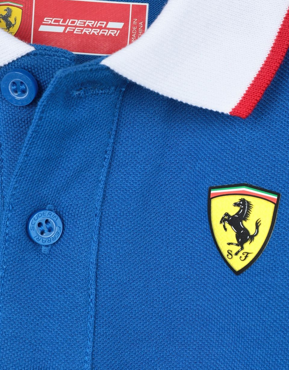 Scuderia Ferrari Online Store - Boys' cotton piquet polo shirt -