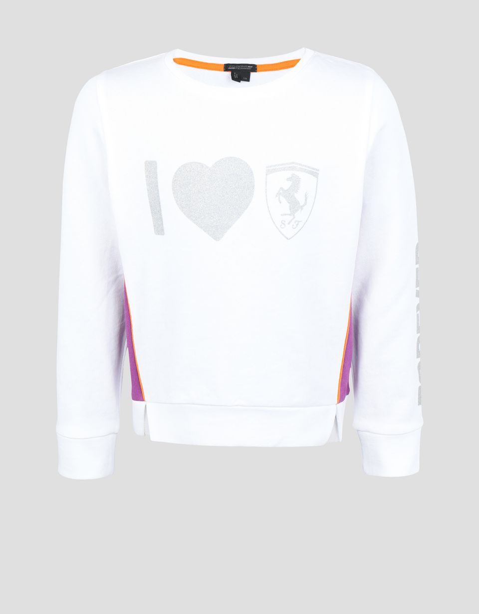 Scuderia Ferrari Online Store - Girl's sweatshirt in French Terry with print - Crew Neck Jumpers
