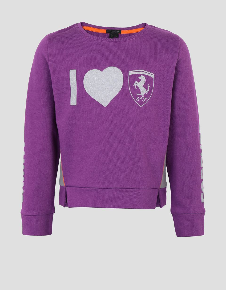Scuderia Ferrari Online Store - Boys' printed French terry top - Crew Neck Sweaters