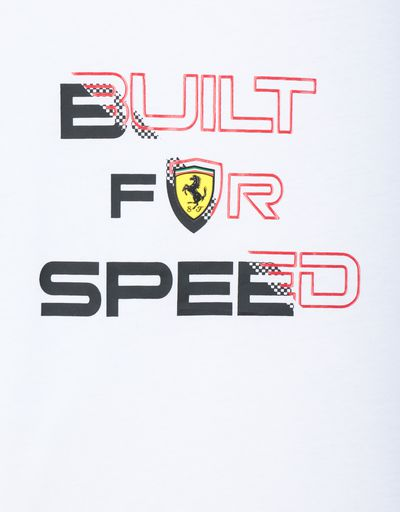 Scuderia Ferrari Online Store - Boy's T-shirt with BUILT FOR SPEED print - Short Sleeve T-Shirts