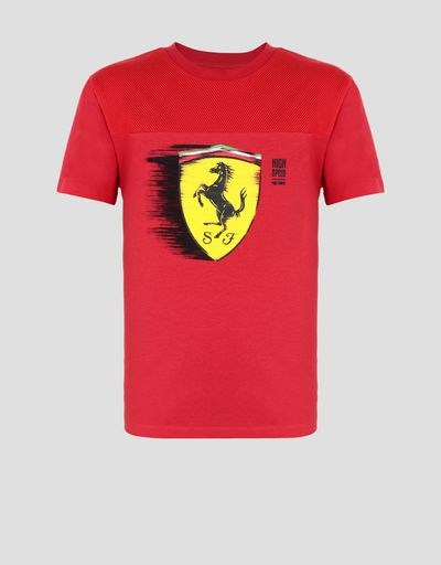 8b8d397e5dac70 Boy s T-shirt with dynamic Ferrari Shield print ...