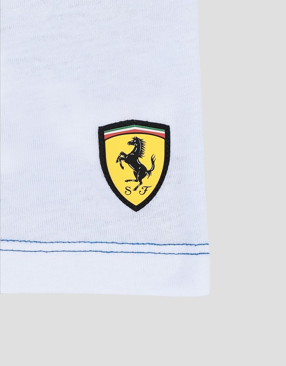 Scuderia Ferrari Online Store - Boy's T-shirt with Scuderia Ferrari Icon Tape - Short Sleeve T-Shirts