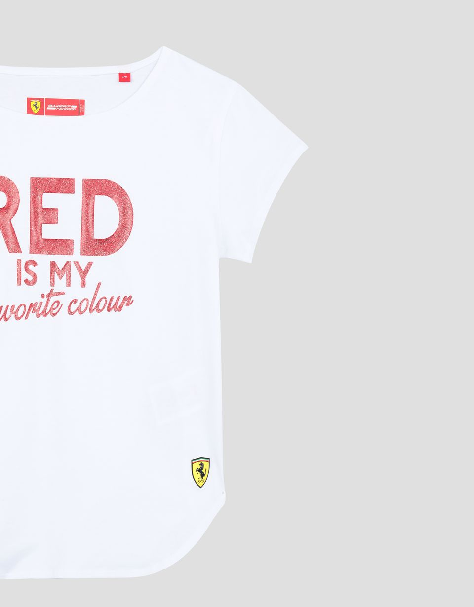 Scuderia Ferrari Online Store - 少女 RED IS MY FAVORITE COLOUR 闪片印纹 T 恤 - Short Sleeve T 恤