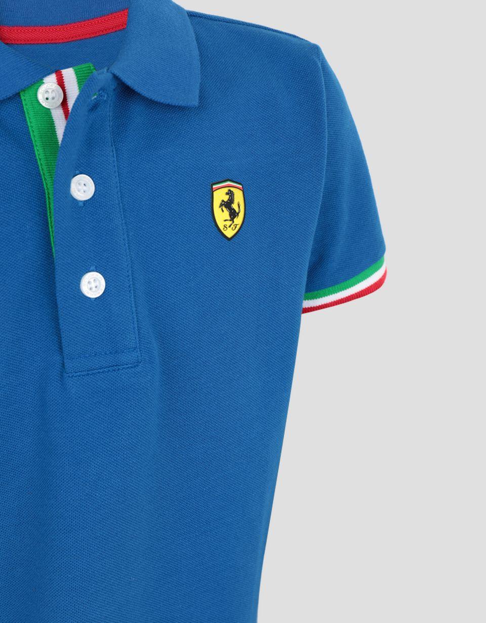Scuderia Ferrari Online Store - Polo shirt for teens with Italian flag -