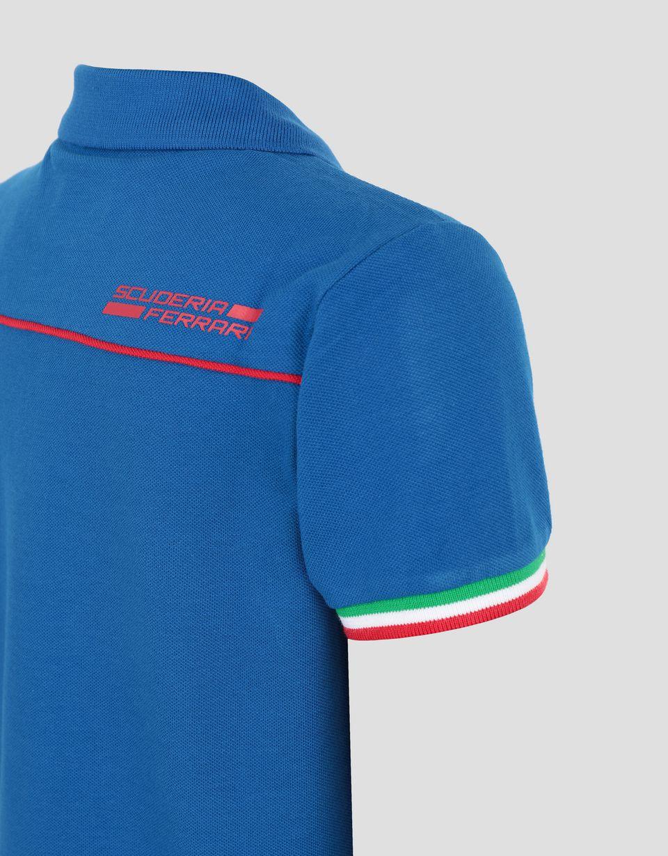 Scuderia Ferrari Online Store - Polo enfant avec drapeau italien - Polos à manches courtes