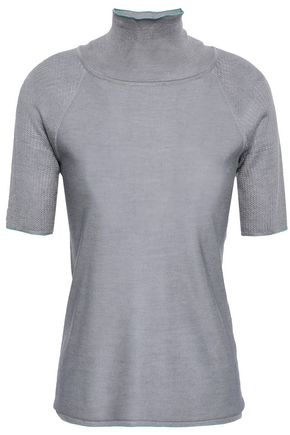 GIORGIO ARMANI Silk and cashmere-blend turtleneck top