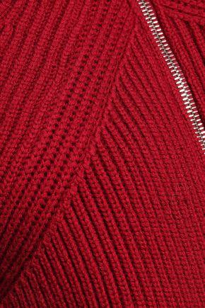 VICTORIA BECKHAM Ribbed wool cardigan