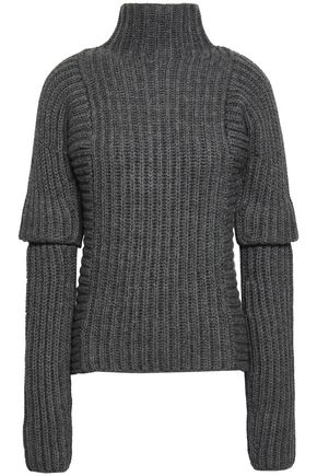 VICTORIA BECKHAM Ribbed alpaca and wool-blend sweater
