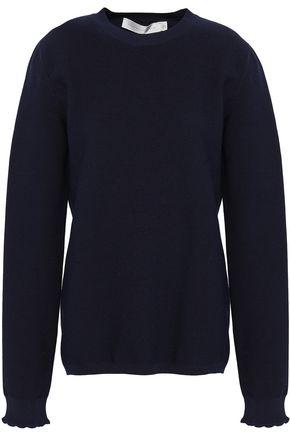 VICTORIA BECKHAM Scallop-trimmed wool-blend sweater