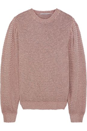 bb8b5f927b STELLA McCARTNEY Metallic open-knit sweater