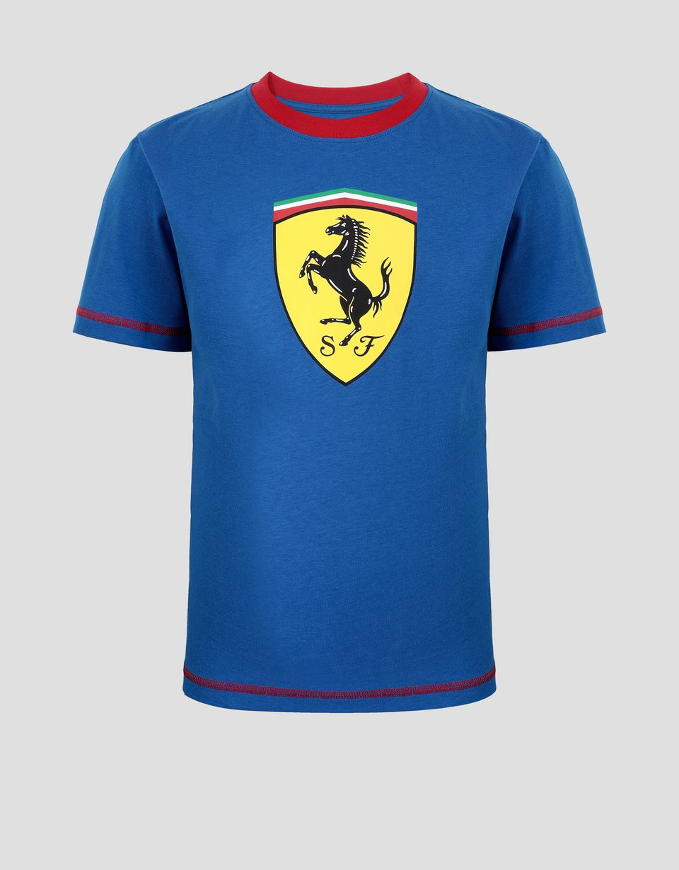 Scuderia Ferrari Online Store - Boys' Scuderia Ferrari T-shirt with contrasting stitching - Short Sleeve T-Shirts